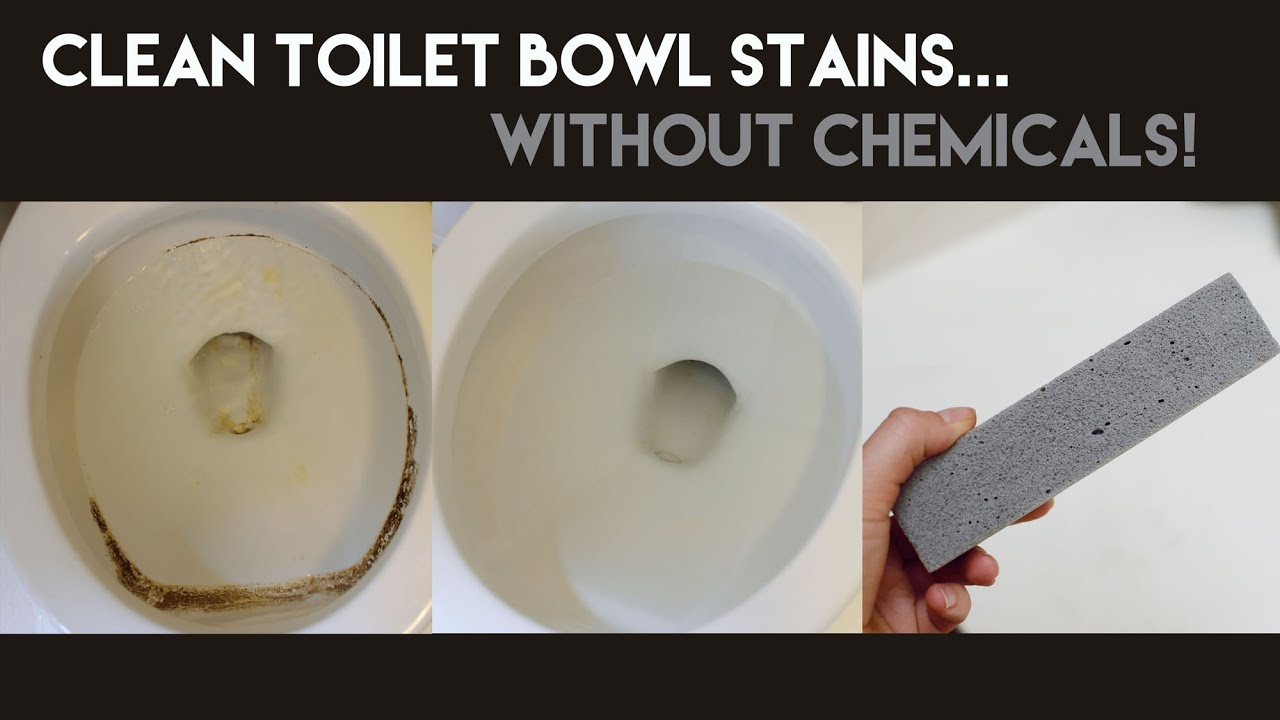 how to clean toilet bowl stains without chemicals youtube. Black Bedroom Furniture Sets. Home Design Ideas