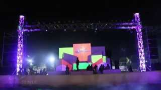 3D Projection Mapping with Live VJing for DJ Anish Sood at PDPU,India