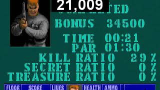 Wolfenstein 3D - Escape from Castle Wolfenstein 1 - speedrun Any% (Death Incarnate) in 21 sec.