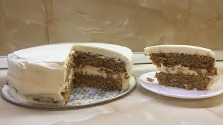 Швейцарский морковный торт 🍰/ Рецепт от Ugly Moon / Мой первый торт и такой замороченный :)))