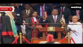 President Uhuru Kenyatta taking Oath of office! Full Process! 2nd Inauguration Kenya Mr  C E O