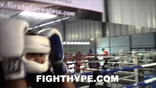 MIKEY GARCIA DROPS BIGGER MAN IN SPARRING; FIND OUT WHAT IT'S LIKE TO FIGHT A PRO