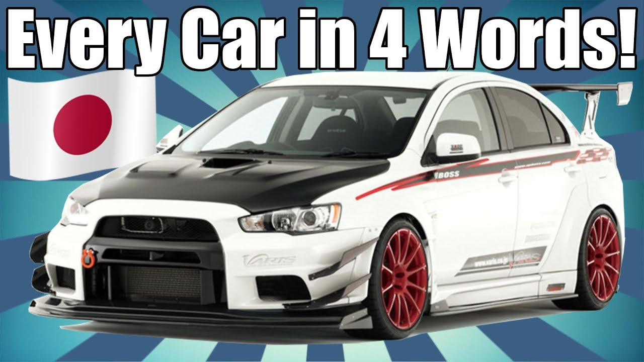 Every car ever in 4 words japanese edition