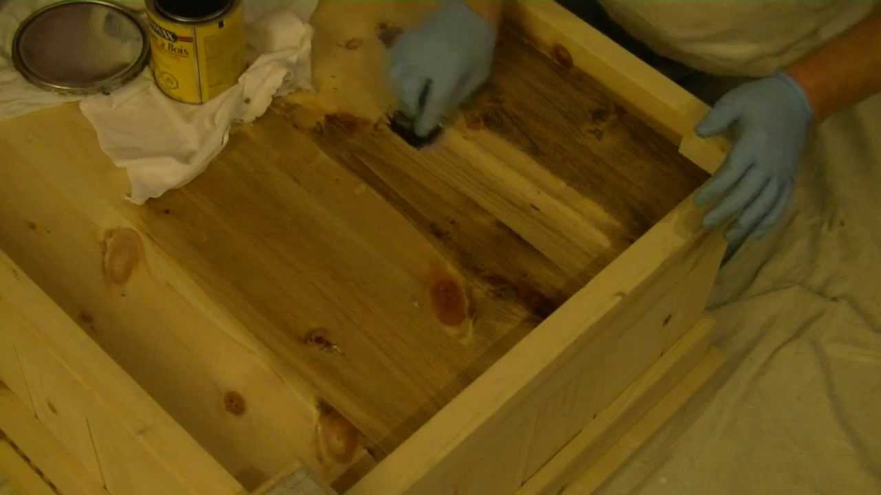 How To Stain Pine Furniture Conditioning Youtube