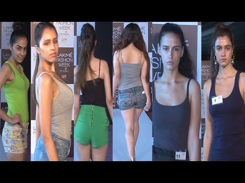 Indian Beauties at Lakme Fashion Week Auditions