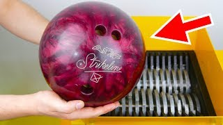 WHAT HAPPENS IF YOU DROP BOWLING BALL INTO THE SHREDDING MACHINE? thumbnail