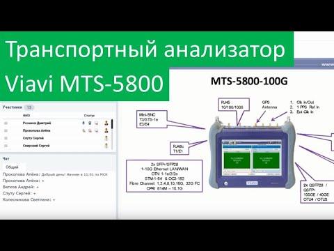 Транспортный анализатор MTS-5800 для тестирования сетей 100GE. Запись вебинара!