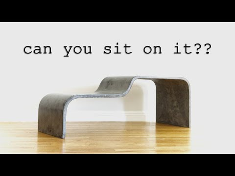 DIY Ultra-Thin Curved Concrete Bench || How to Make