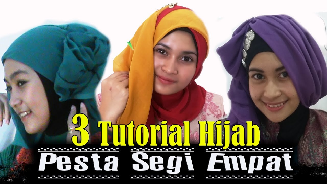 3 Tutorial Hijab Pesta Segi Empat By AWMCollection 226 YouTube