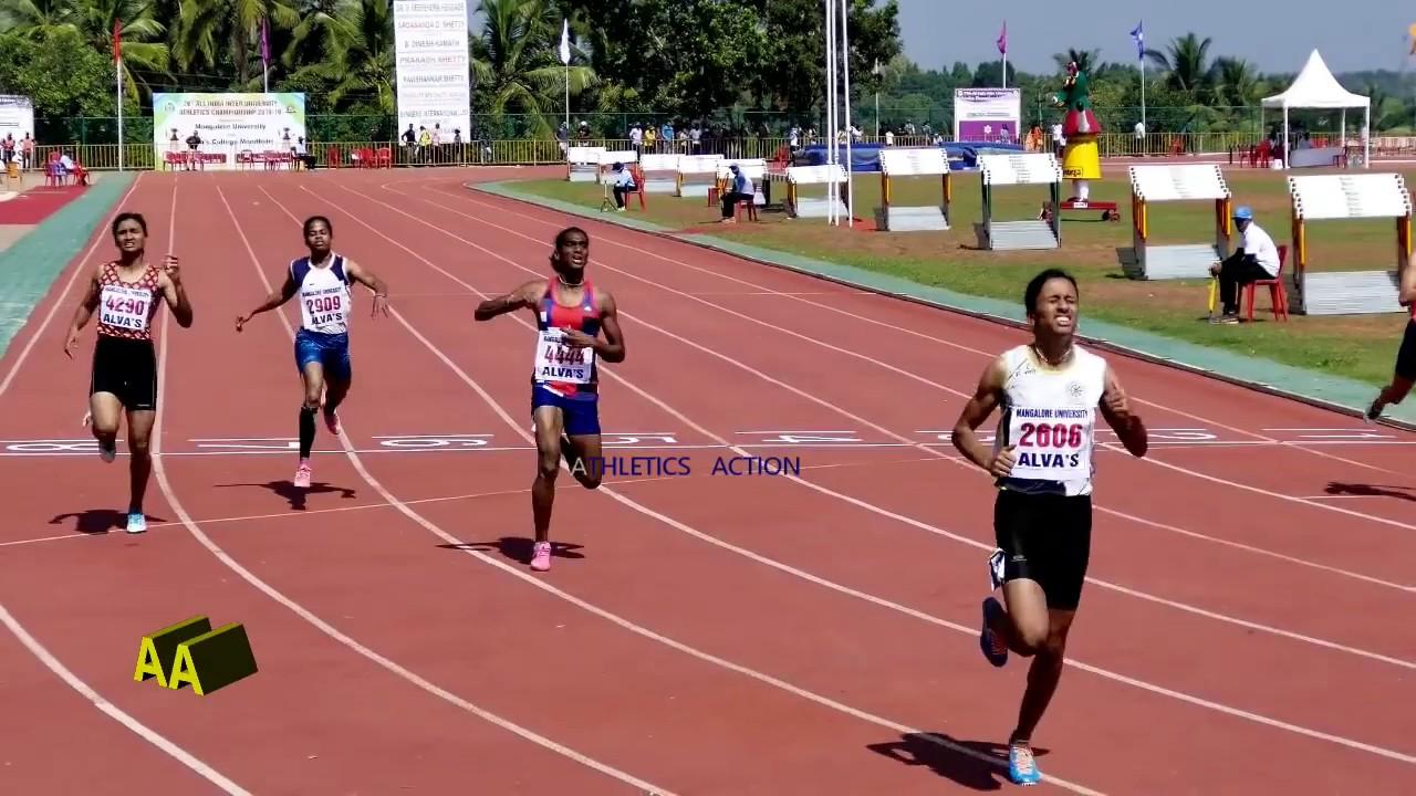 The Fastest 200m Women Race of Indian University History (23.24) -  University Athletics 2018-19 - YouTube