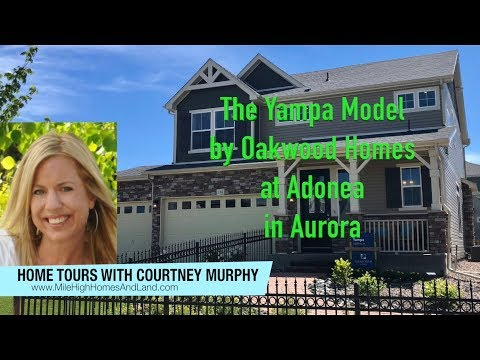New Homes in Aurora Colorado - Yampa Model by Oakwood Homes at Adonea