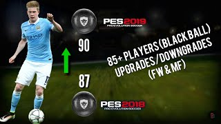 85+ Players UPGRADES/DOWNGRADES in PES 19 Mobile (Officially)