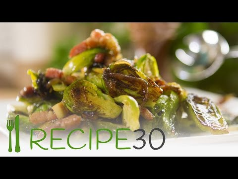 CARAMELISED BRUSSELS SPROUTS WITH PANCETTA