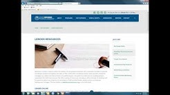 Lender Online, Processing, Closing and Post-Closing Training