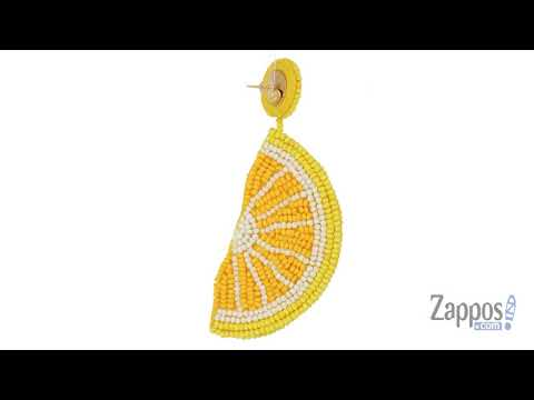 Kenneth Jay Lane Lemon Slice Seed Bead Post Earrings SKU: 9050780