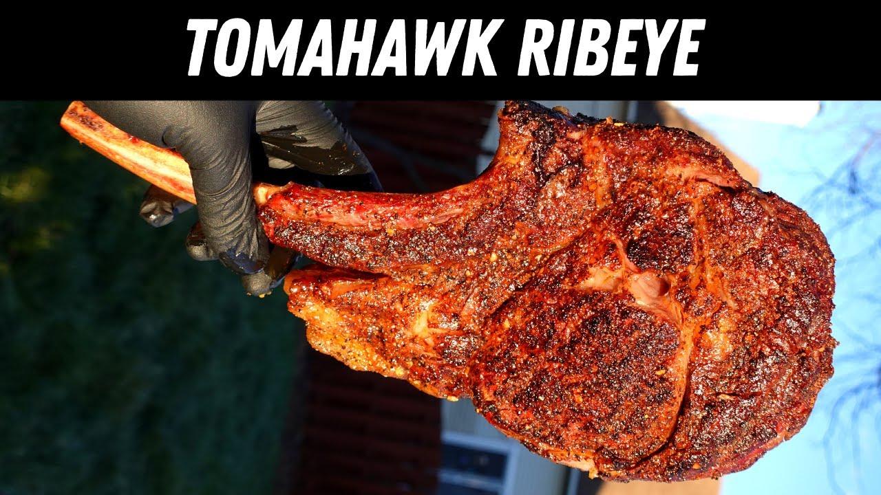 Download Tomahawk Ribeye On the Traeger Ironwood 885