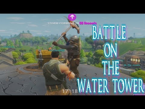 Battle on the Water Tower | Epic Bridge Flank | Fortnite