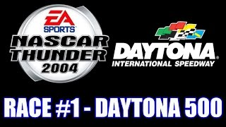 NASCAR Thunder 2004 [PS2] - FULL RACE - (Race #1) Daytona 500
