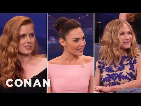 Amy Adams' Girl Crush On Holly Hunter & Gal Gadot  - CONAN on TBS