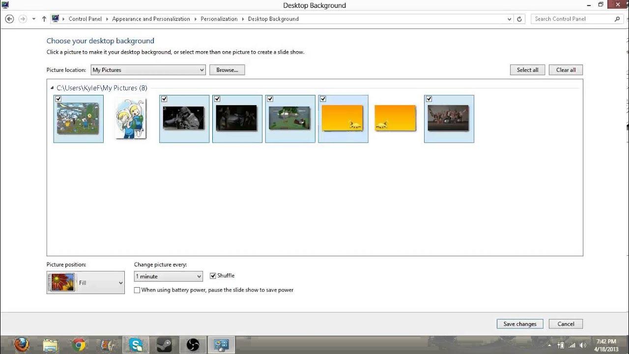 Windows 8 background image location - Windows 8 How To Make A Slide Show Desktop Background