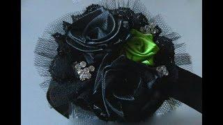 Tiara com Flores mágicas e tule