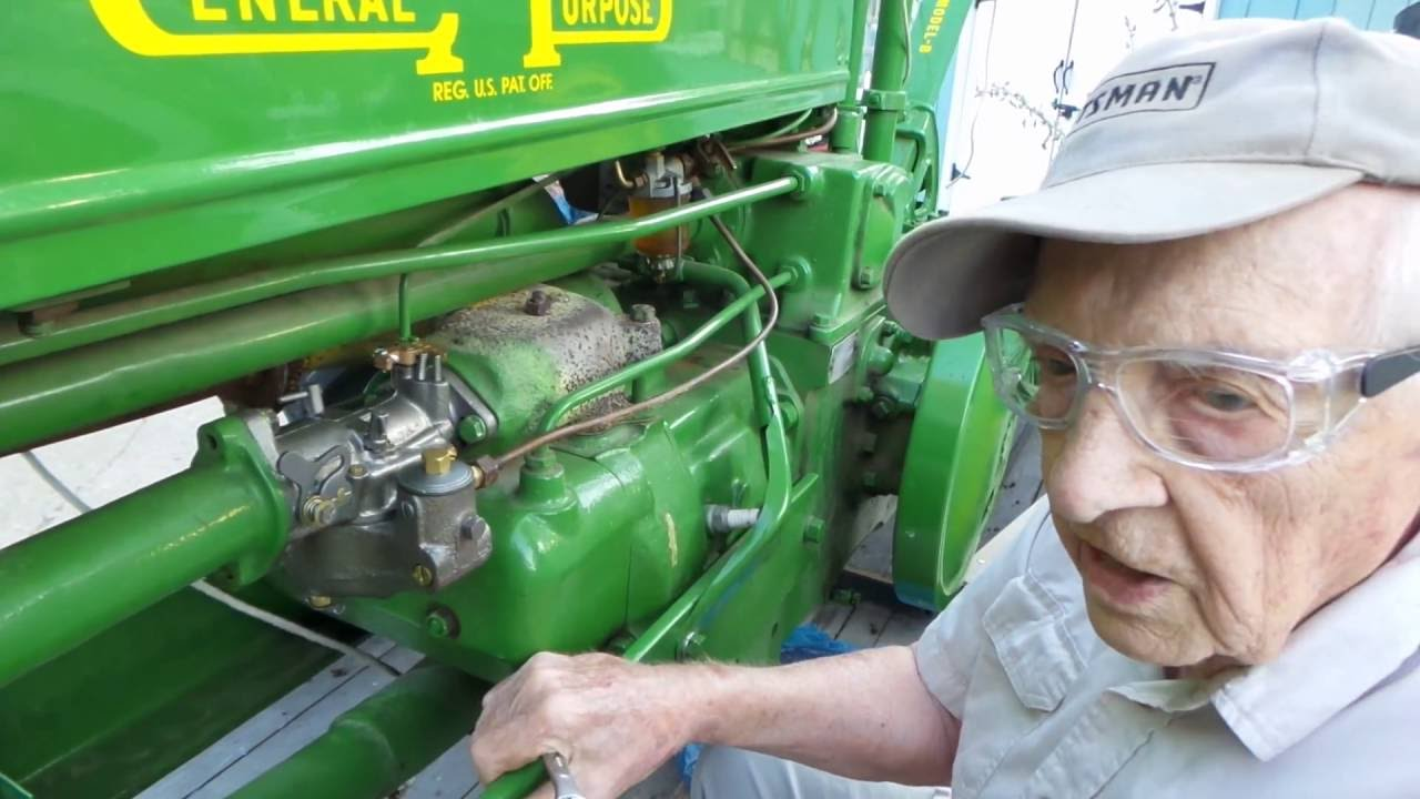 installing the carburetor 1938 model b john deere tractor with verdi gilbertson [ 1280 x 720 Pixel ]