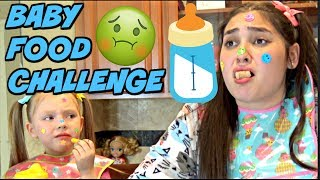 BABY FOOD CHALLENGE! IT gets CRAZY! The TOYTASTIC Sisters.FUNNY CHALLENGE!