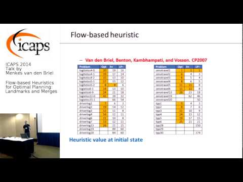 "ICAPS 2014: Menkes van den Briel on ""Flow-based Heuristics for Optimal Planning"""
