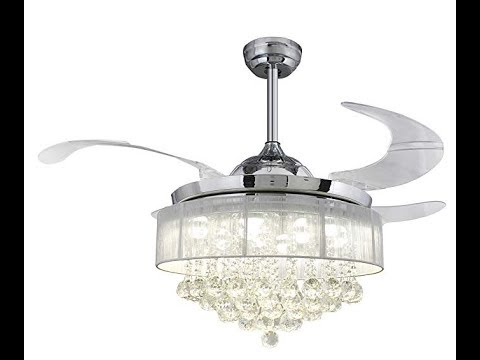 How to assemble install crystal retractable blades led - Fan with retractable blades ...