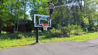 Doing Insane Dunks On A VERY Low Rim