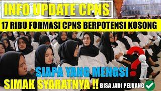 INFO UPDATE    PENGISIAN FORMASI KOSONG CPNS