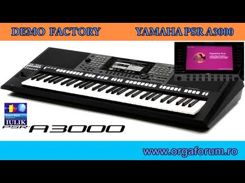 YAMAHA PSR A3000 demo factory - all the demo