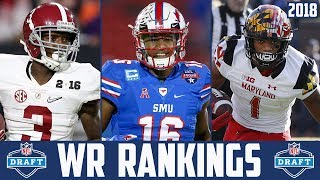 2018 NFL Draft WR Rankings - NFL Draft Prospect Rankings Calvin Ridley Courtland Sutton DJ Moore