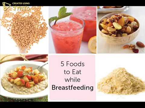 Top 5 Foods For Lactating Moms
