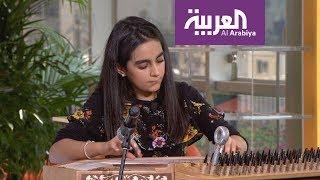 صباح العربية:  طفلة سورية تبرع بعزف القانون