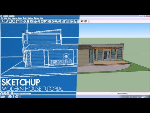 Sketchup tutorial how to design a modern house youtube for Modern house design sketchup