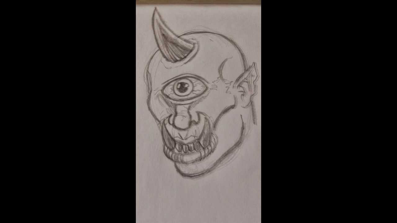 Drawing A Classic Cyclops Head Step By Step - YouTube