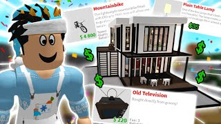building a bloxburg house with CHEAPEST ITEMS ONLY... it's better I think