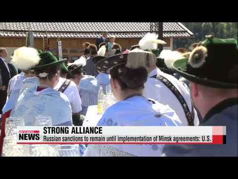 World leaders seek to bolster Russian sanctions at G7 summit   G7 정상회의 개막...대 러시