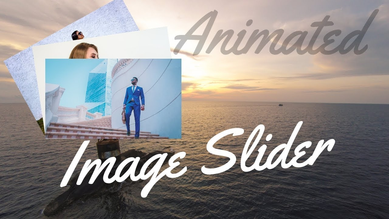 How To Make Animated Image Slider In Website Using HTML CSS And Bootstrap