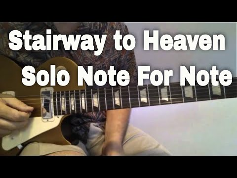 Guitar Lesson - Stairway to Heaven Solo Note for Note