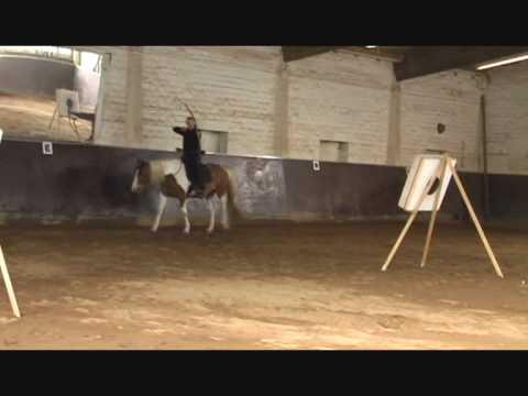 WHBA - horseback archery, Reiterbogenschießen Teil 1 - Level 1, die Grundstufe.wmv