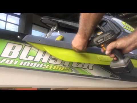 Blaster surf fin install