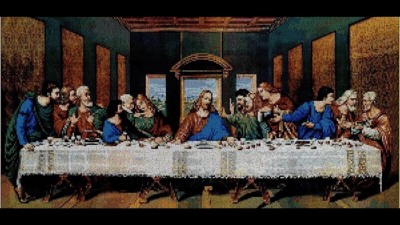 nuevos patrones punto de cruz religion buen pastor santa cena youtube