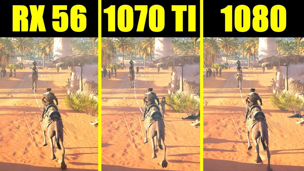 Assassin's Creed Origins GTX 1070 TI Vs GTX 1080 Vs AMD RX Vega 56 Frame  Rate Comparison