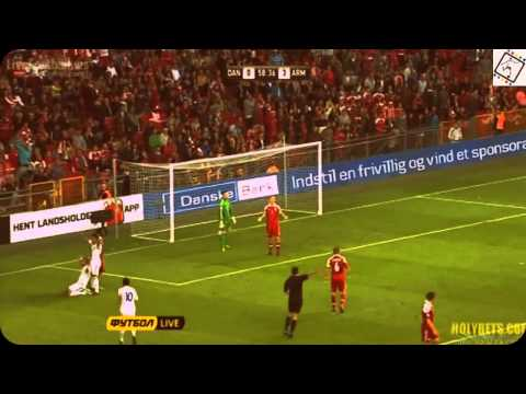 Denmark - Armenia 0:4, Qualifiers 2014 Goals