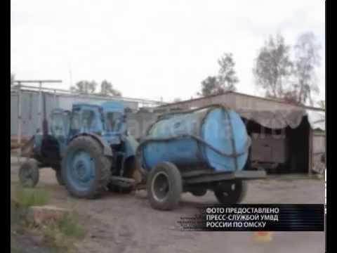 Трактором по односельчанину прошелся житель Полтавского района Омской области