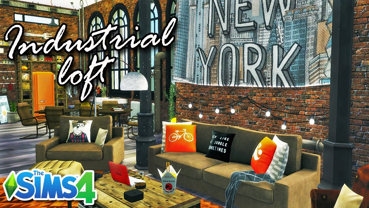THE SIMS 4 - Industrial Loft Apartment [New York style]