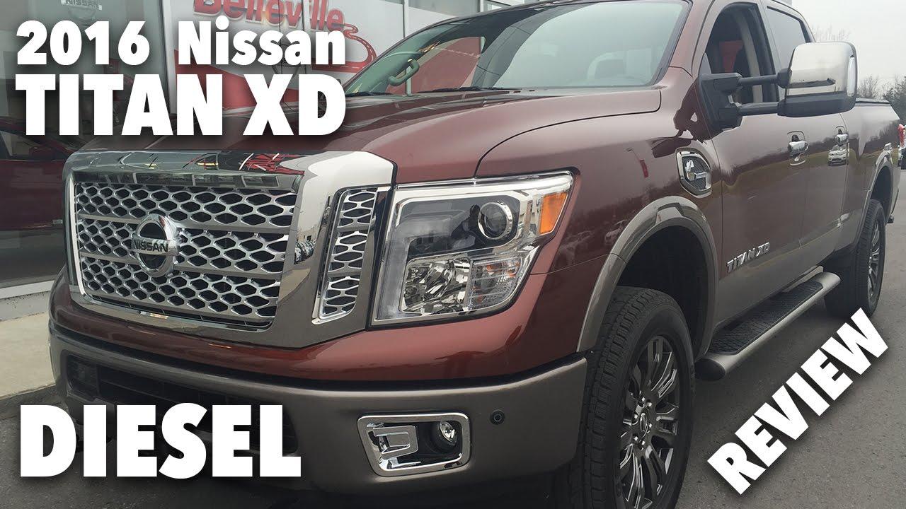 2016 Nissan Titan Xd Diesel Platinum Reserve Review Youtube