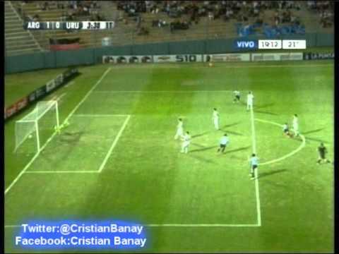 ( Golazo de Chilena ) Argentina vs Uruguay (3-3)  ( Radio Oriental) Sudamericano Sub 17 (17/4/2013)